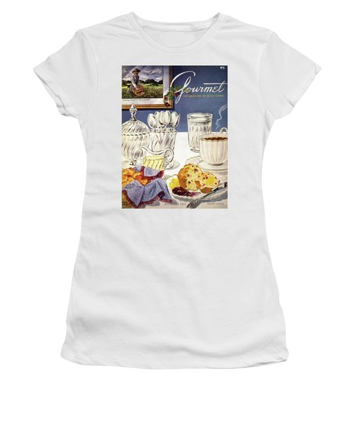 Gourmet Cover Illustration Of Cranberry Muffins Women's T-Shirt