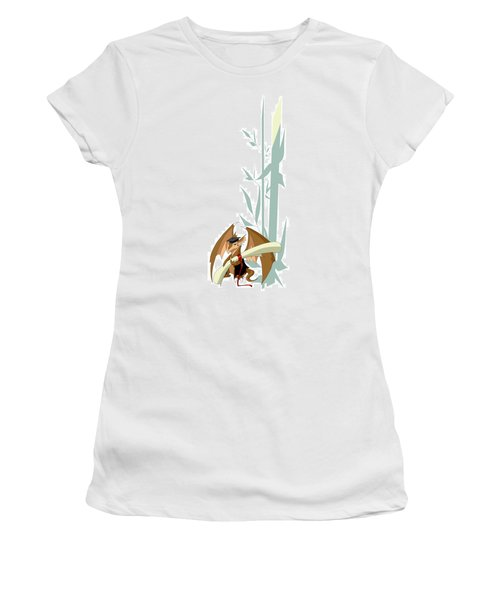 Graduation Dragon With Bamboo Women's T-Shirt (Athletic Fit)