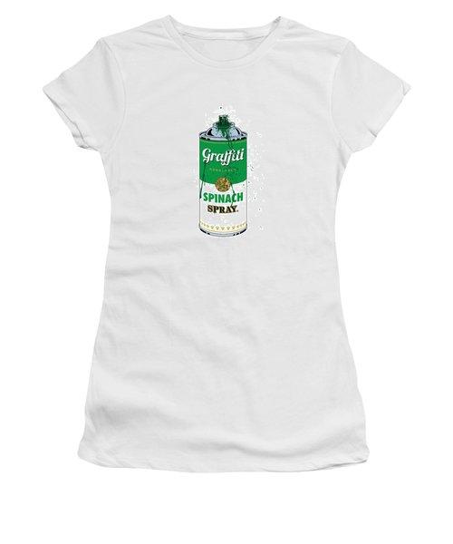 Graffiti Spinach Spray Can Women's T-Shirt