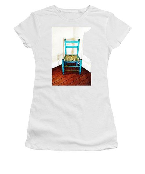 Granular Blue Women's T-Shirt (Athletic Fit)