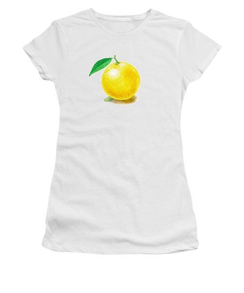 Grapefruit Women's T-Shirt (Junior Cut) by Irina Sztukowski