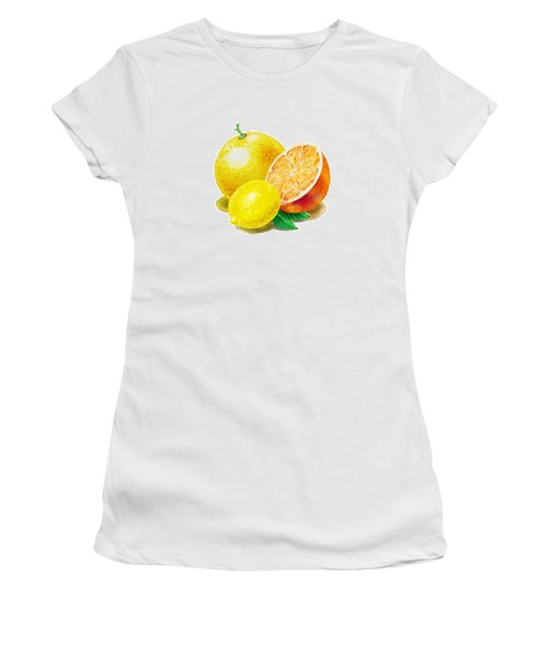 Grapefruit Lemon Orange Women's T-Shirt (Junior Cut)