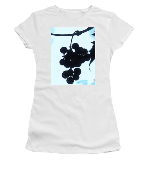 Women's T-Shirt (Junior Cut) featuring the drawing Grapes by D Hackett