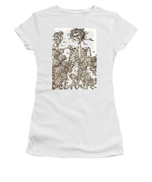Women's T-Shirt (Junior Cut) featuring the photograph Gratefully Dead Skeleton by Kelly Awad