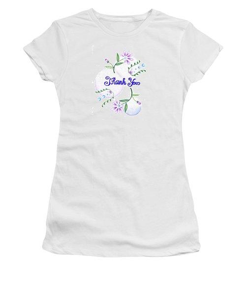 Women's T-Shirt (Junior Cut) featuring the drawing Gratitude by Keiko Katsuta