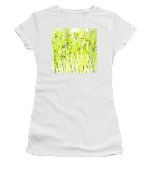 Green Abstract Art Women's T-Shirt