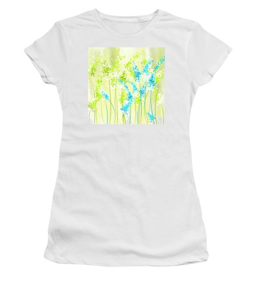 Green And Turquoise Women's T-Shirt