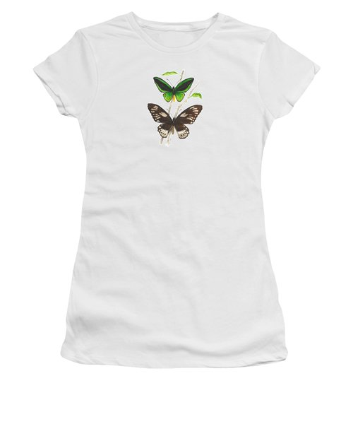 Green Birdwing Butterfly Women's T-Shirt (Athletic Fit)