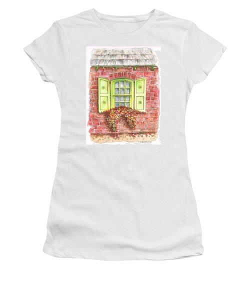 Green Window Women's T-Shirt (Junior Cut) by Carlos G Groppa