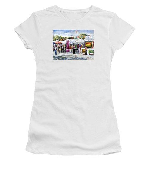 Greenwich Art Fair Women's T-Shirt (Junior Cut) by Alexandra Maria Ethlyn Cheshire