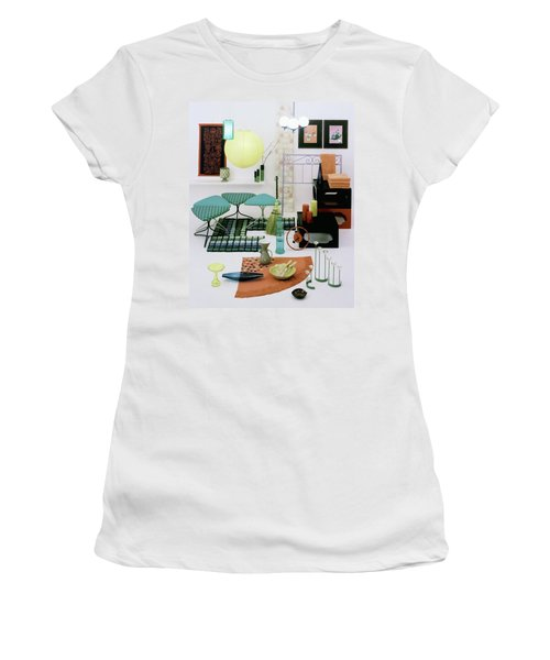 Group Of Furniture And Decorations In 1960 Colors Women's T-Shirt