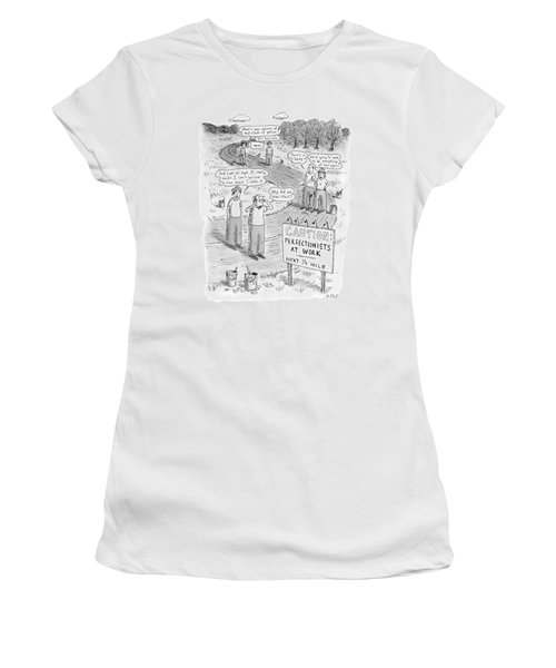 Groups Of Construction Workers Paralyzed Women's T-Shirt