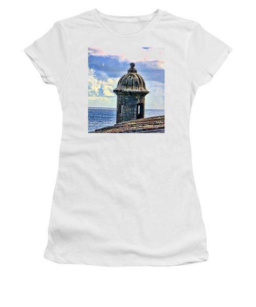 Guard Tower At El Morro Women's T-Shirt (Athletic Fit)