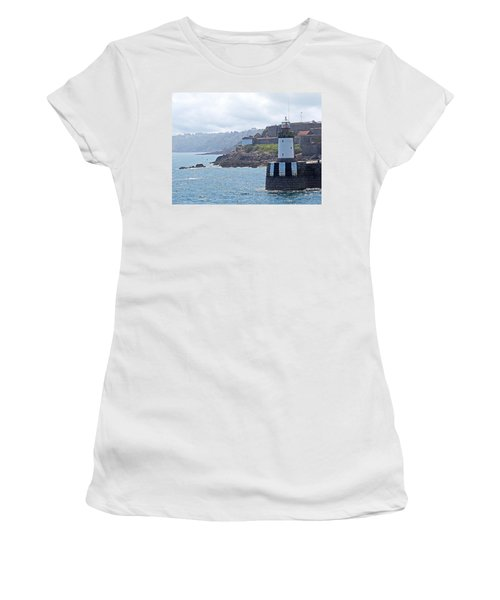 Guernsey Lighthouse Women's T-Shirt (Athletic Fit)