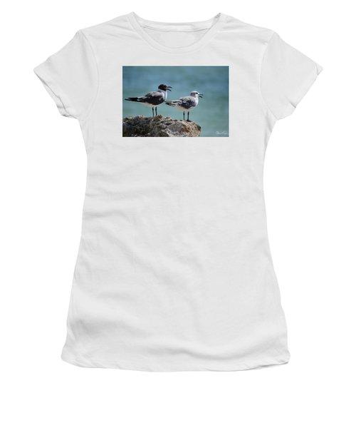 Gull Talk Women's T-Shirt (Athletic Fit)