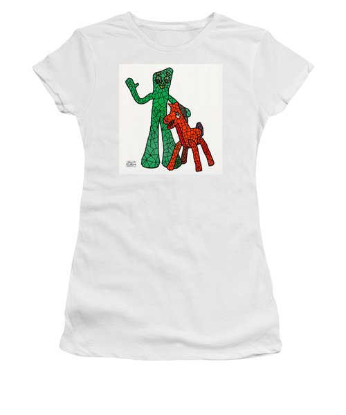Gumby And Pokey Not For Sale Women's T-Shirt (Junior Cut) by Bruce Nutting