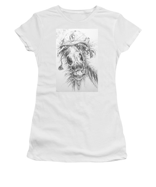 Hair-ied Horse Soilder Women's T-Shirt (Athletic Fit)