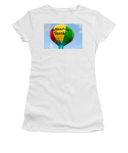 Hallendale Beach Water Tower Women's T-Shirt (Athletic Fit)