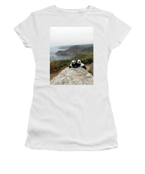 Women's T-Shirt (Junior Cut) featuring the photograph Hang On- You Got A Friend by Ausra Huntington nee Paulauskaite