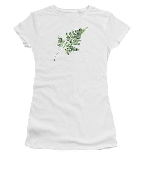 Happy Adventure Music Fern Women's T-Shirt (Junior Cut) by Sandra Foster