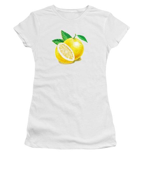 Happy Grapefruit- Irina Sztukowski Women's T-Shirt (Junior Cut) by Irina Sztukowski