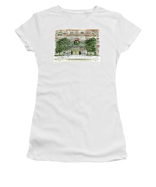 Happy Holidays At 1919 Madison Avenue In Harlem Women's T-Shirt (Junior Cut) by AFineLyne