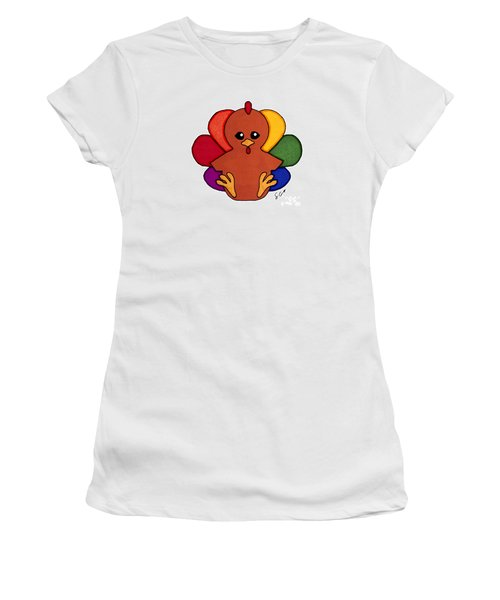 Happy Turkey Day Women's T-Shirt (Athletic Fit)