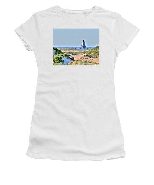 Harbor Of Refuge Lighthouse Women's T-Shirt (Athletic Fit)