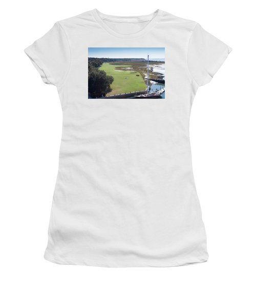 Harbourtown Golf Course 18th Hole Women's T-Shirt (Athletic Fit)