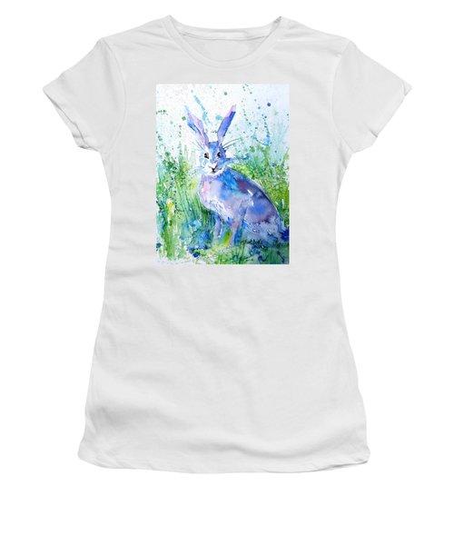 Hare Stare Women's T-Shirt (Junior Cut) by Trudi Doyle