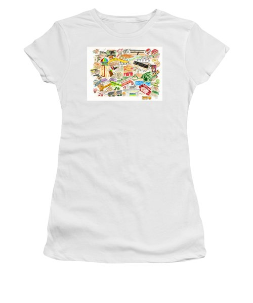 Harlem Collage Women's T-Shirt (Junior Cut) by AFineLyne