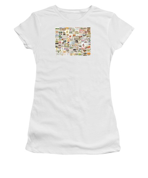 Harlem Collage Of Old And New Women's T-Shirt (Athletic Fit)