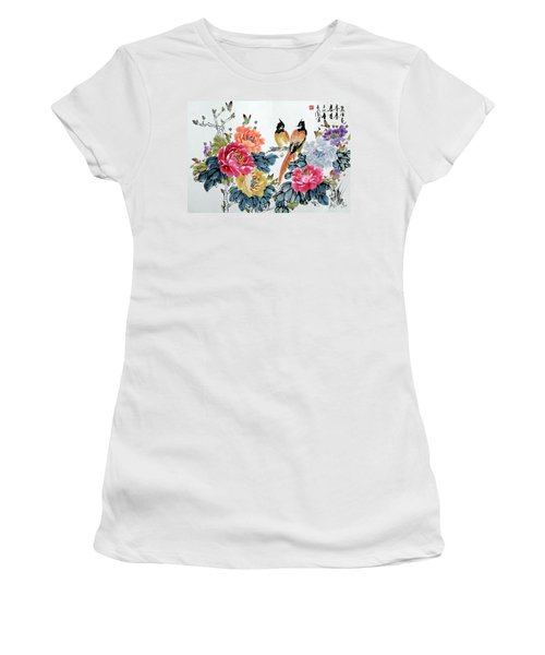 Harmony And Lasting Spring Women's T-Shirt (Junior Cut) by Yufeng Wang