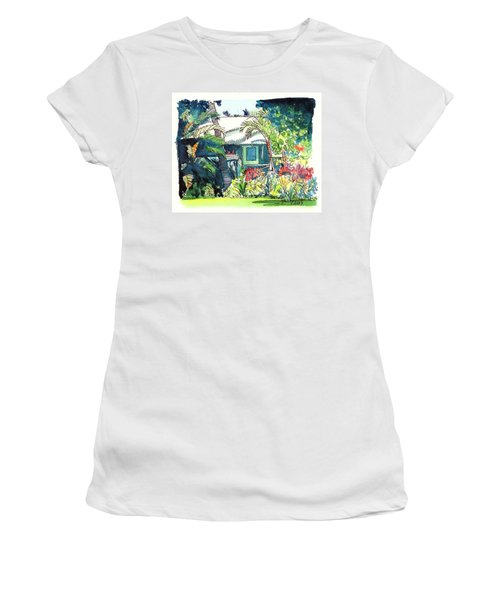 Hawaiian Cottage 3 Women's T-Shirt (Junior Cut) by Marionette Taboniar