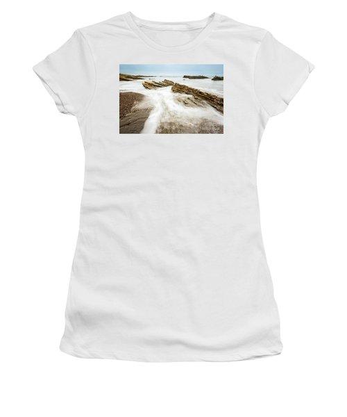 Hazard Tides - Jagged Rocks Of Montana De Oro State Park Women's T-Shirt