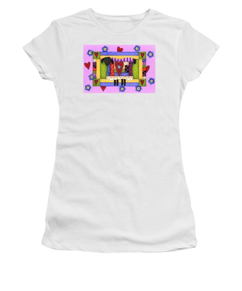 Heart For Ewe Women's T-Shirt (Junior Cut) by Tracy Campbell