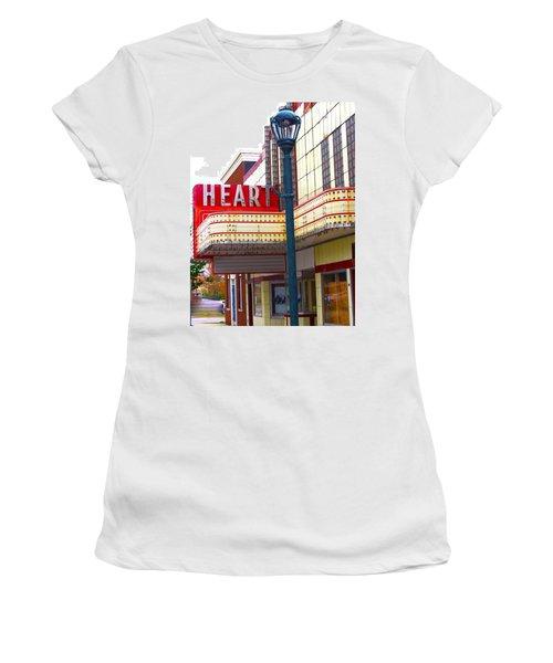 Heart Theatre Effingham Illinois  Women's T-Shirt (Junior Cut) by Suzanne Lorenz