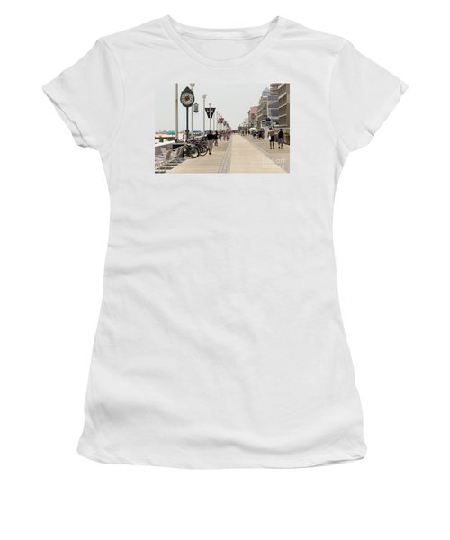 Heat Waves Make The Boardwalk Shimmer In The Distance Women's T-Shirt