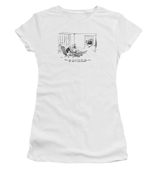 Here Comes Our ?rst V.p Women's T-Shirt