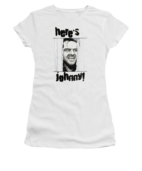 Here's Johnny Women's T-Shirt (Junior Cut) by Cory Still