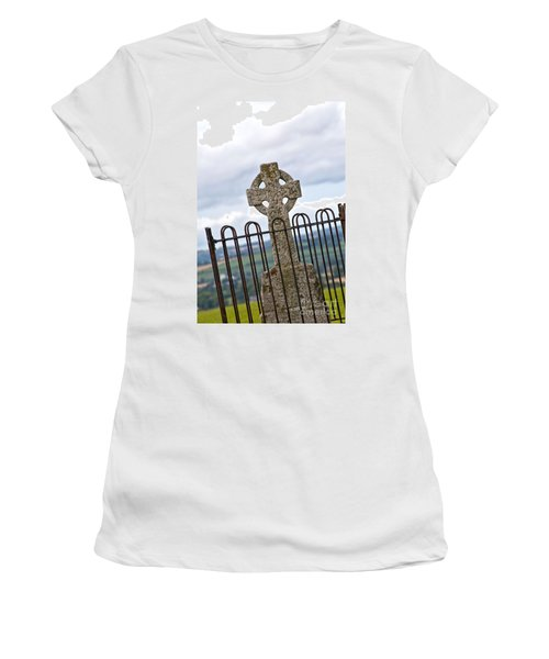 Hill Of Tara Celtic Cross Women's T-Shirt (Athletic Fit)