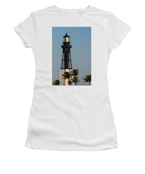 Hillsboro Inlet Lighthouse In The Evening Women's T-Shirt (Athletic Fit)