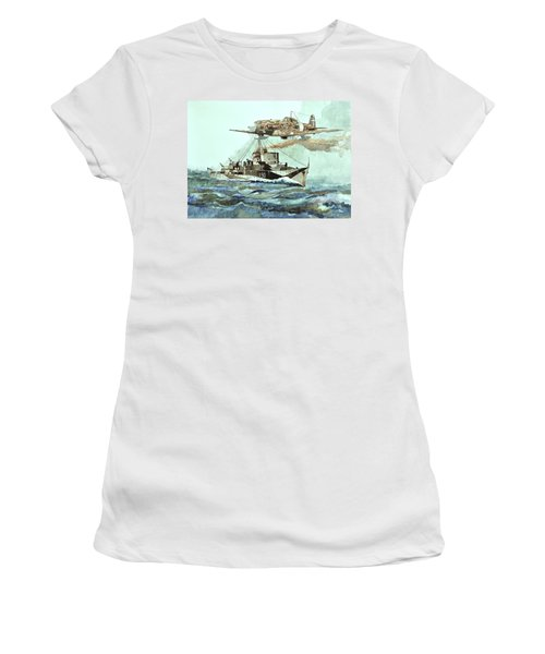 Hms Ledbury Women's T-Shirt (Athletic Fit)