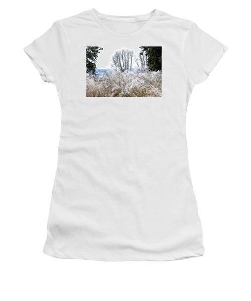 Hoarfrost Watercolor Women's T-Shirt