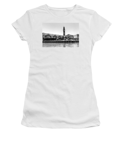 Hoboken Terminal Tower Women's T-Shirt (Athletic Fit)