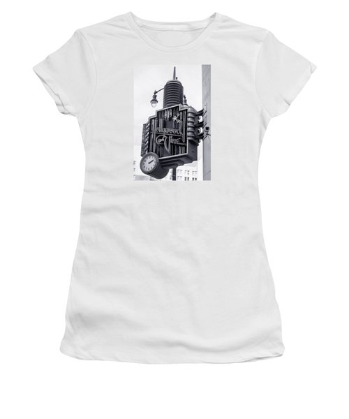 Hollywood Landmarks - Hollywood And Vine Sign Women's T-Shirt (Junior Cut) by Art Block Collections