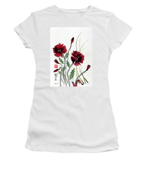 Women's T-Shirt (Junior Cut) featuring the painting Honor by Bill Searle