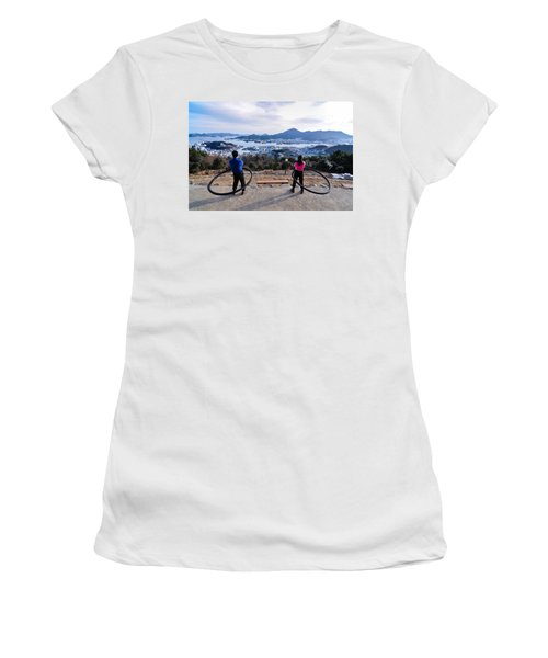 Hoops On The Mountaintop Women's T-Shirt (Athletic Fit)