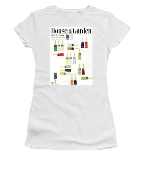 House & Garden Cover Of Paintbrushes Dripped Women's T-Shirt