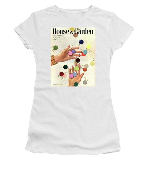 House & Garden Cover Of Woman's Hands With An Women's T-Shirt